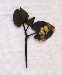 Small branch made of cotton printed with the Rijksmuseum painting 'A woman with her child' by Louis Bernard Coclers by Puur Anders