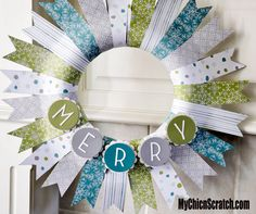 Christmas Wreath made by Stampin' Up! Demonstrator Angie Kennedy Juda