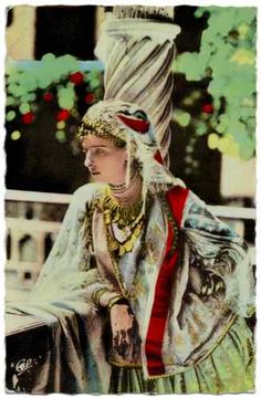 Vintage Postcard Woman in Tunisian Folk Costume Tunis Gypsy Bohemian Look   eBay
