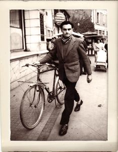 Vintage with style streetstyle bike men