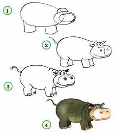zoo animals draw drawings animal drawing easy fabartdiy