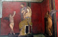 Afresco em um dos ambientes da Vila dos Mistérios, em Pompeia; residência é uma das mais bem conservadas do sítio arqueológico (Foto: Ciro de Luca/Reuters)