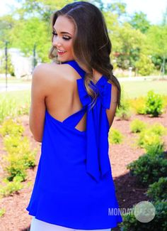 Woman's Worth Blouse in Royal Blue | Monday Dress Boutique