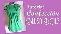 Instrucciones de costura para el armado y terminación de la Blusa BC115. Tutorial Trazado del molde de costura en: http://www.elbauldelacosturera.com/2014/09...