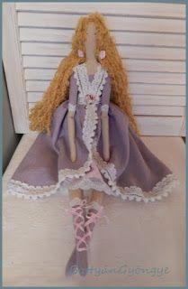 Tilda baba - Aranyhaj / Tilda doll - Golden Hair Golden Hair, Textiles, Lany, Dolls, Doll, Baby, Textile Art, Girl Dolls, Baby Dolls
