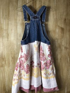 Womens's Up cycled Vintage Tunic/Dress Recycled Overalls