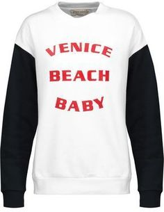 Être Cécile Venice Beach Baby Flocked Cotton-Fleece Sweatshirt