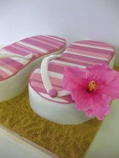 adorable flip flop cake