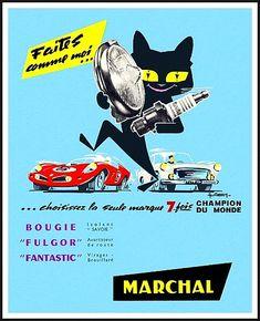 Affiches de publicité d'accessoires automobiles, page 6, documents anciens, v1. Motorcycle Posters, Car Posters, Vintage Advertisements, Vintage Ads, Art Deco Car, Old Pub, Love Monster, Automobile, Gatos