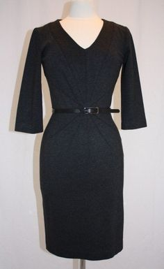 Grey Calvin Klein Dress Fitted Belted