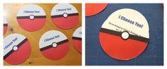 Pokemon Birthday Party -- Homemade Pokeball Invitations