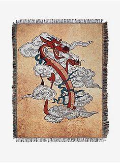Disney Mulan Mushu In The Smoke Tapestry Throw