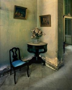 "Michael Eastman (Born 1947), ""Mercedes' Hallway #2, Havana"" - (""Faded Elegance: Photographs of Havana by Michael Eastman"" @ Tampa Museum of Art ~ Tampa, Florida, USA)"