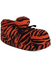 ecfd677d6f9579  22.99 - 1117-2 - Snooki Orange Zebra Print - Medium - Happy Feet Snooki  Slippers - - labeltail.com  1117-2  -  Snooki  Orange  Zebra  Print  -   Medium ...