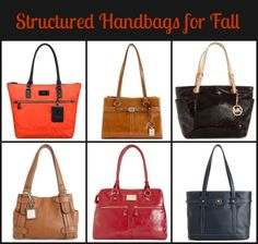 structured handbags for fall