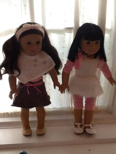 American girl dolls !! Adorable!ivy looks so cute in Isabelle's rosette leo!