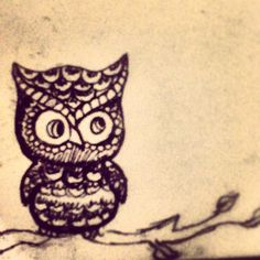 My little owl drawing :)