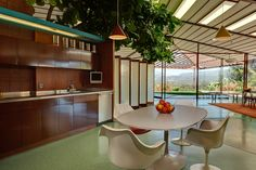 The private residence of noted mid-century modern designer and builder Rodney Walker (1910-1986)
