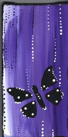 Butterfly - Purple & Black Mini Painting