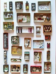 """Could be used for a Nevelson or Cornell assemblage project.  """"mano k. art boxes, all of november 2012"""""""