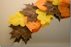 Check out these leaves made from #SmartFab! #classroom #fallcrafts #falldecor