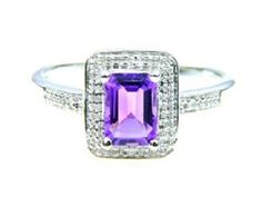 Sterling Silver .92tcw. Amethyst Diamond Ring. Get the lowest price on Sterling Silver .92tcw. Amethyst Diamond Ring and other fabulous designer clothing and accessories! Shop Tradesy now