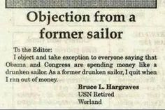 I was never a sailor, but if memory serves the Corps was the same way!