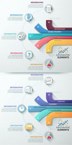 Modern Infographic Options Template (2 Colors)