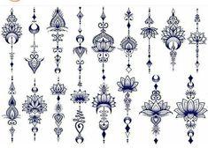 Bohemian Tattoo, Boho Tattoos, Mini Tattoos, Body Art Tattoos, Small Tattoos, Tatoos, Lotusblume Tattoo, Unalome Tattoo, Sternum Tattoo