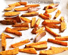 Oven Baked Sweet Potato Fries | http://www.apinchofhealthy.com/oven-baked-sweet-potato-fries/