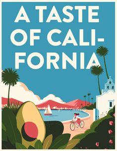 Me he enamorado de las ilustraciones de esta campaña para los aguacates de California - La Criatura Creativa