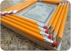 Back to School Craft:  Pencil Frame.