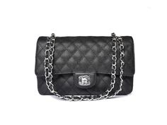 Chanel 2.55 calfskin leather Black 1112 AGX