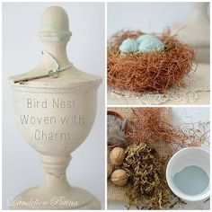 bird nest woven with charm diy, crafts, home decor, seasonal holiday decor