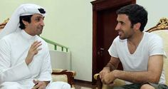 Raúl being interviewed by a Doha sports magazine