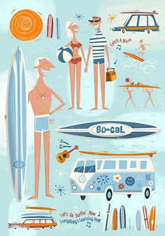So-Cal by Peter Donnelly, via Behance