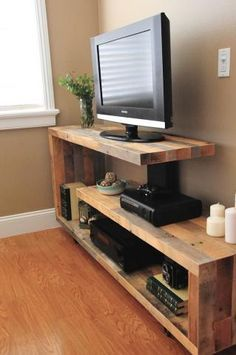 TV stand ideas modern for living room. TV stand ideas modern for bedroom. TV stand ideas modern for small spaces. Rustic Tv Console, Tv Console Modern, Console Tv, Rustic Tv Unit, Tv Unit Furniture, Diy Furniture, Console Furniture, Furniture Projects, Tv Stand Plans