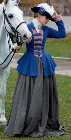 Georgian era Riding Habit. Need to check for accuracy but it's definitely cute!