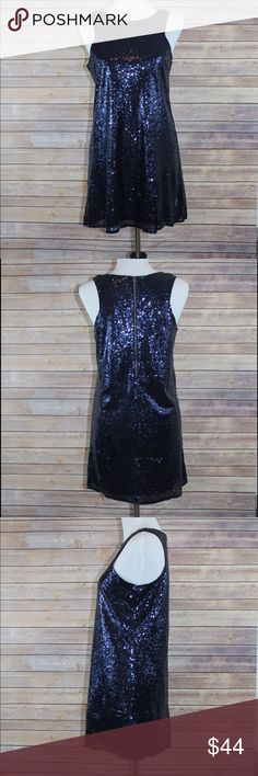 Sequins Party Dress Beautiful blue sequined dress. Sleeveless, back zipper, completely lined. Dresses
