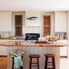 After: Rustic and Refined - 10 Coastal Kitchen Makeovers - Coastal Living
