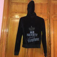 Juicy Couture Velour Track Jacket Your Majesty Juicy Couture written on back. Matching pants also sold separately in my closet!  Juicy Couture Tops Sweatshirts & Hoodies