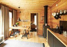 kuva Cabin Design, House Design, Indoor Places, Building A Cabin, Cedar Homes, Cottage Renovation, Tiny Cabins, Minimalist Home Decor, Cottage Interiors