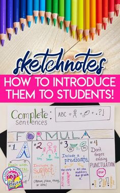How to Get Started with Sketchnotes in the Classroom | Reading and Writing Haven #Sketchnotes #LessonPlans #EngagingELA Middle School Ela, High School, Note Taking Strategies, Close Reading Lessons, Brain Based Learning, We Are Teachers, Tr 4, Sketch Notes, Pre Writing