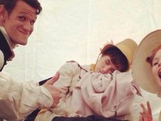 We Think This Is The First Set Photo Of Matt Smith In Pride and Prejudice and Zombies
