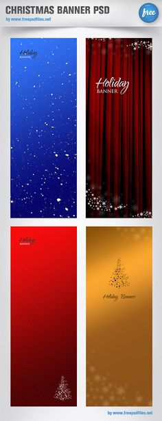 Hello friends, today you can download Free Christmas Banners PSD.These banners are looking very beautiful.Christmas banner set containing 4 PSD templates. Spread the warmth of Christmas by using our Christmas banner set.You can use these banners on your web projects or other Christmas projects.You can easily share with your friends and family.