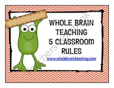 FREE Whole Brain Teaching Froggy Themed Rules from Mrs. Spriggs' Kindergarten Pond on TeachersNotebook.com (6 pages)  - Froggy themed 5 rules for WBT (chevron and polka dots)