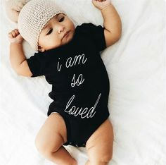 How cute is this I Am So Loved Onsie?! -- Spring Summer Fall Winter Fashion.