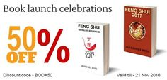 Feng shui 2017 E-Book Series launch offer. 50% off. Just enter BOOK50 at checkout.