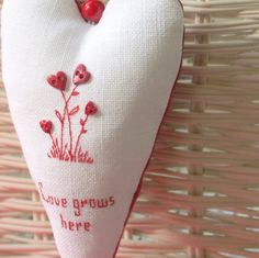 """""""Love Grows Here"""" ornament by Bela Stitches, via Flickr"""