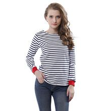 XXL Blusas Plus Size Women Tops Shirts  Long Sleeve O-neck  Blouses Ladies Casual  Black And  White Striped Shirt Clothing